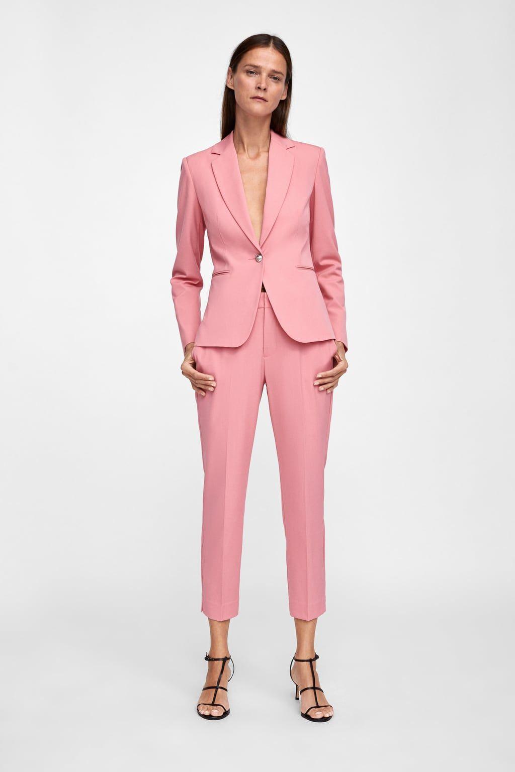 ba89f0c101 Μπλεϊζερ basic | aw18 | Zara suits, Casual suit, Zara fashion