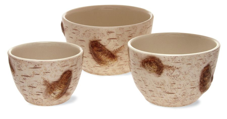 3 Pc Set Serving Mixing Bowls Rustic Country Farmhouse Kitchen Cow Pig Rooster