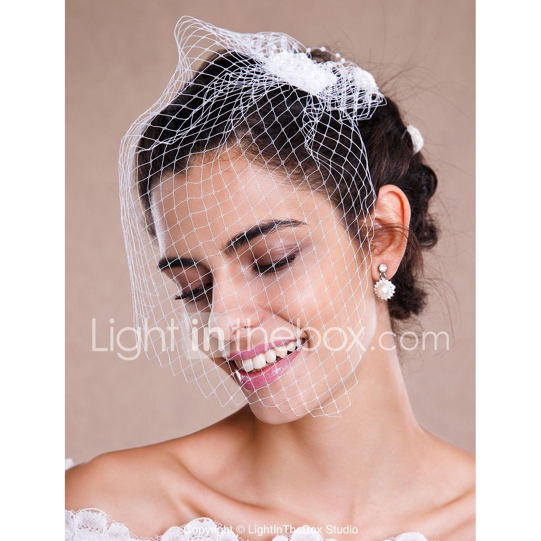 One-tier Raw Edge Wedding Veil Blusher Veils Veils for Short Hair ...