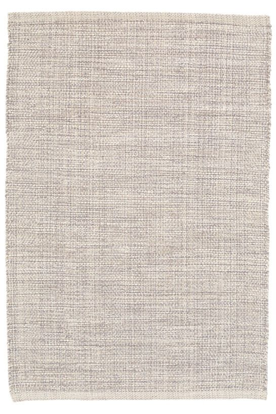 Marled Grey Woven Cotton Rug Annie Selke Affordable Other Colours