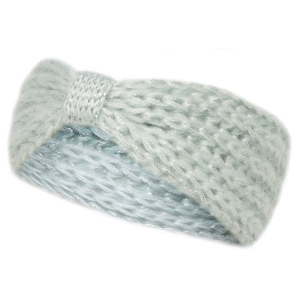 Dorothy Perkins Mint shimmer knitted headband $9 | Style by Emma ...