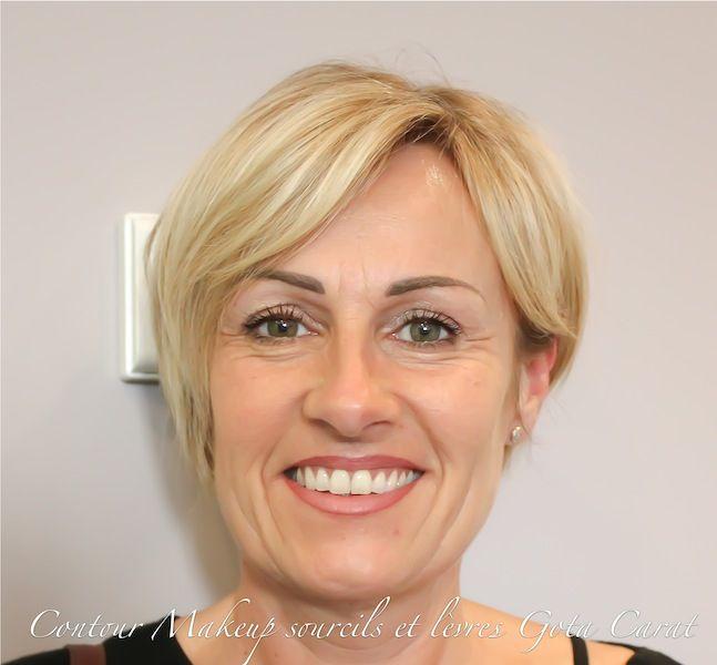 Exemple de maquillage permanent réalisé sur l'une de nos clientes ! Contours des yeux, sourcils et lèvres !