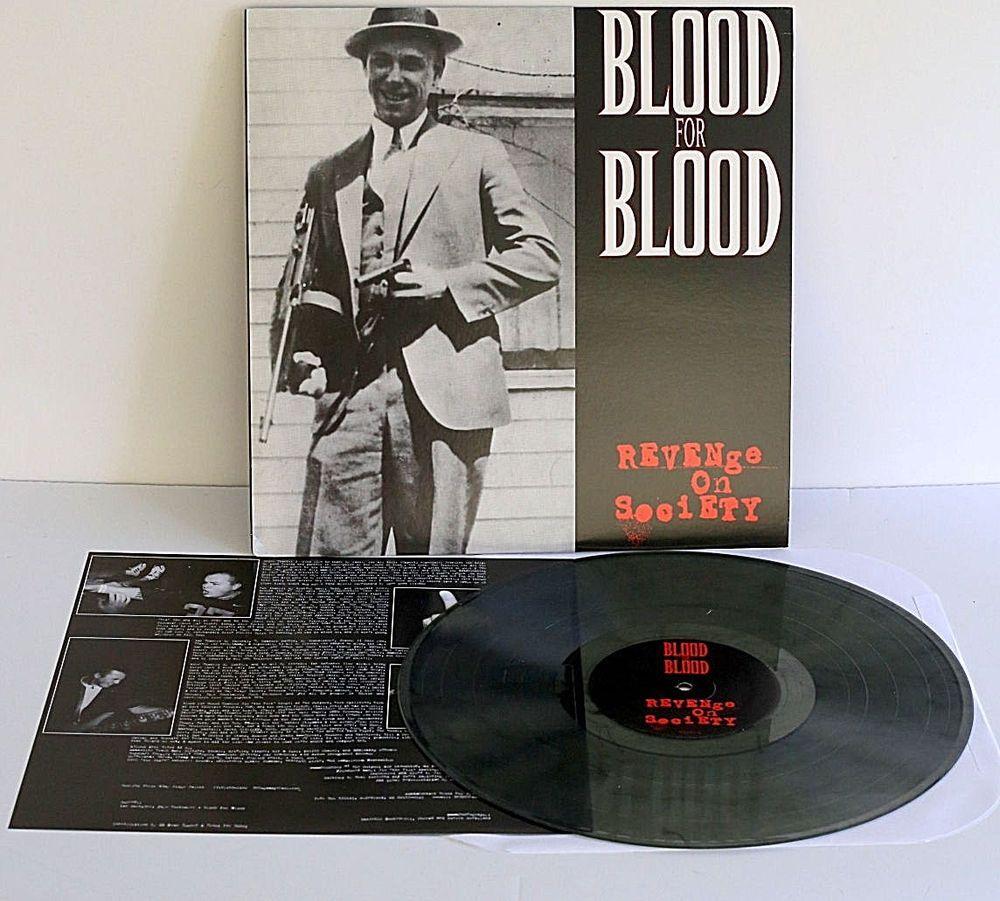 Blood For Blood Revenge On Society Lp Record Smoke Swirl Vinyl Very Rare Color Punkhardcorehardrockpunknewwave Vinyl Revenge Records