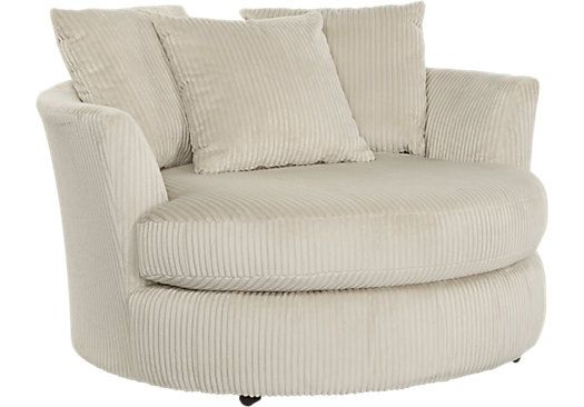 picture of Stratsworth Beige Swivel Chair from Chairs Furniture ...
