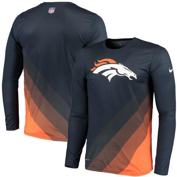 844befd7b46 Men s Denver Broncos Nike Navy Sideline Legend Prism Performance Long  Sleeve T-Shirt