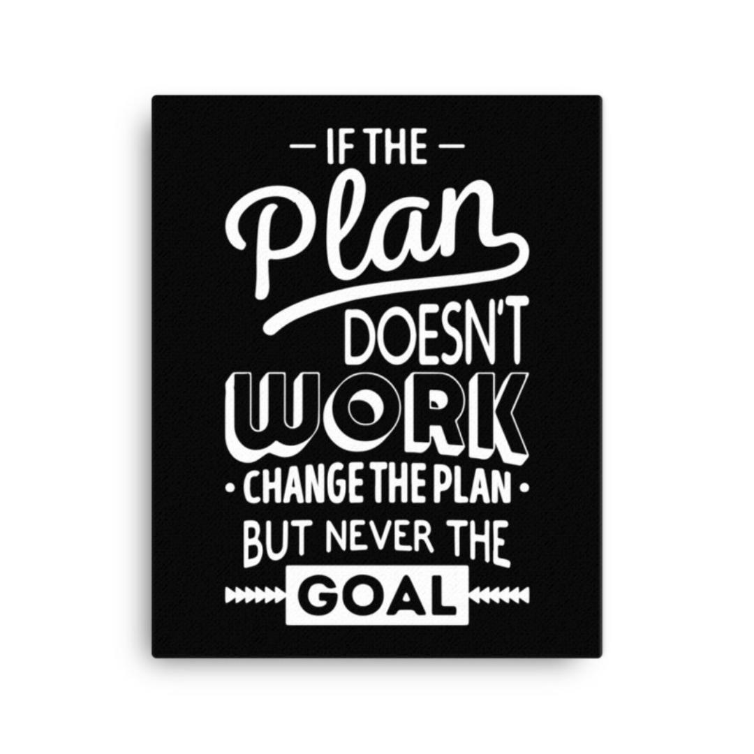 Goal Motivational Wall Art Canvas - Inspirational Wall Decor Quotes - 16x20 / Black