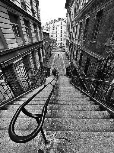 Les escaliers de la rue Levert (Paris 20ème).   Paris   Pinterest ...