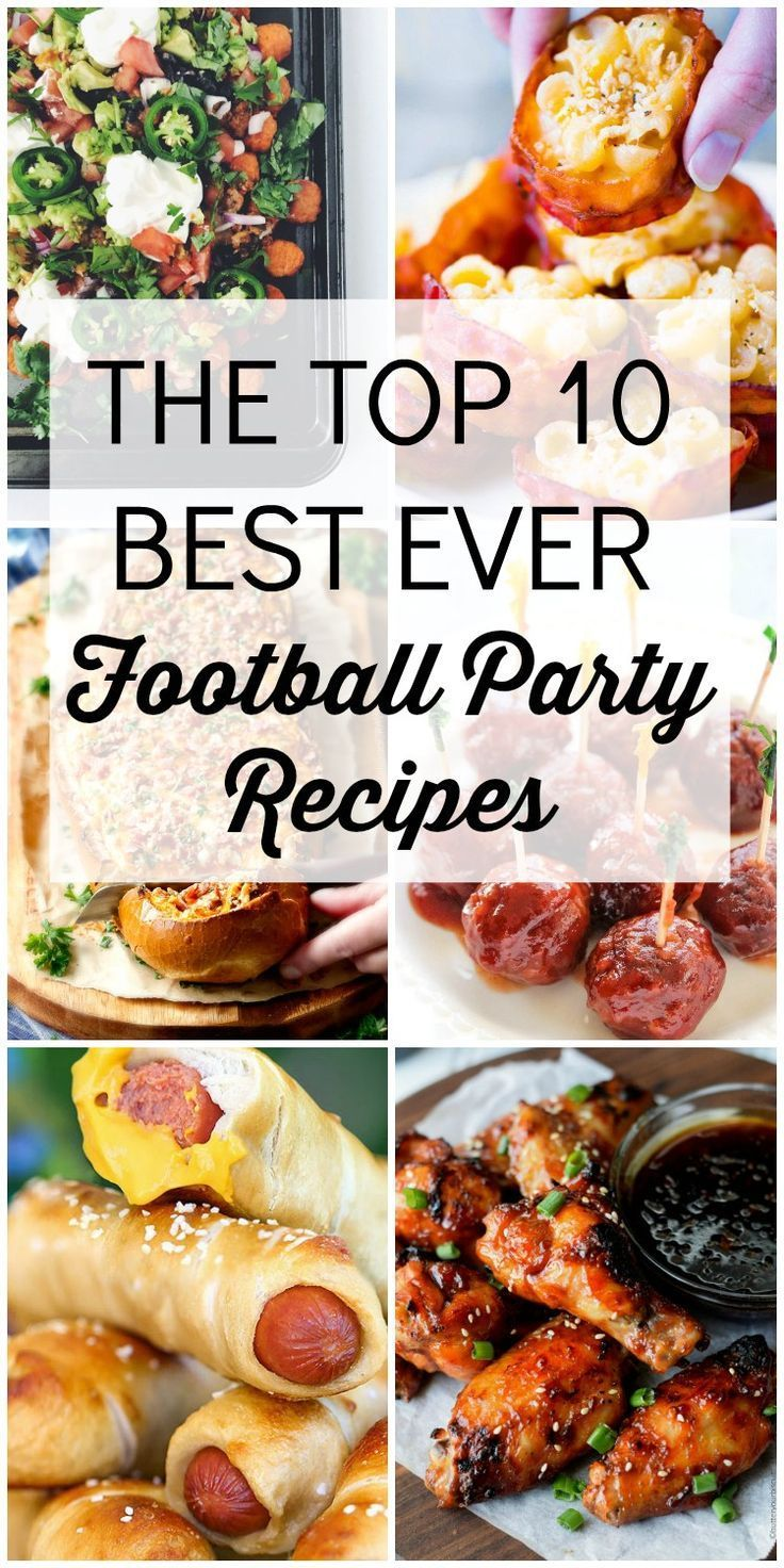 Top Ten Football Party Recipes - Blue Cheese Bungalow #footballpartyfoodappetizers