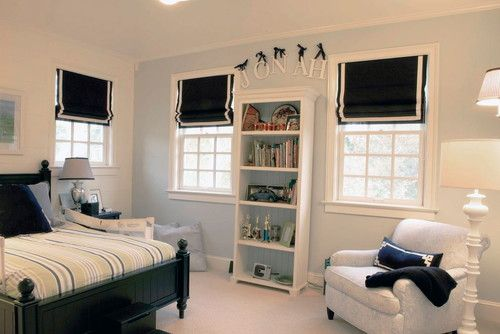 Roman Shades Boys Bedroom Curtains Navy Rooms