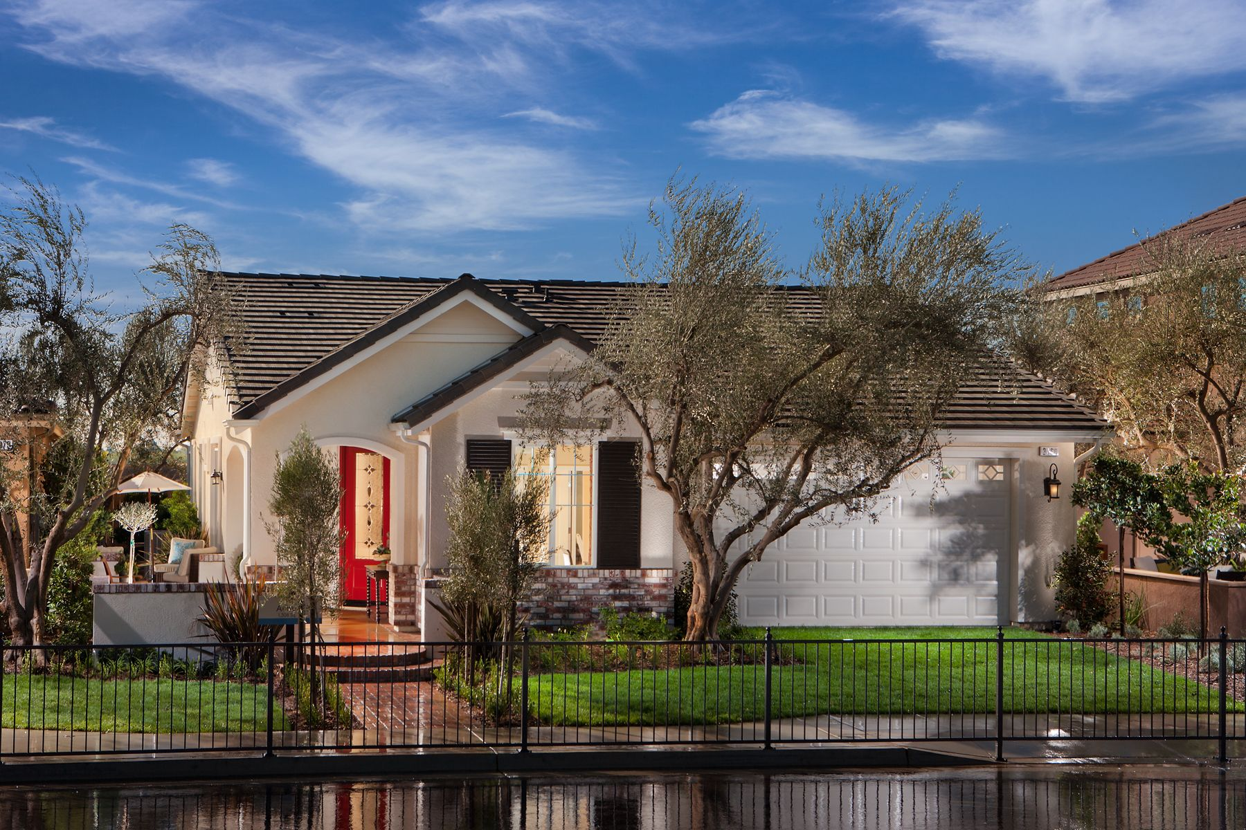 Exterior view of the Auburn Model at The Gallery. Clovis