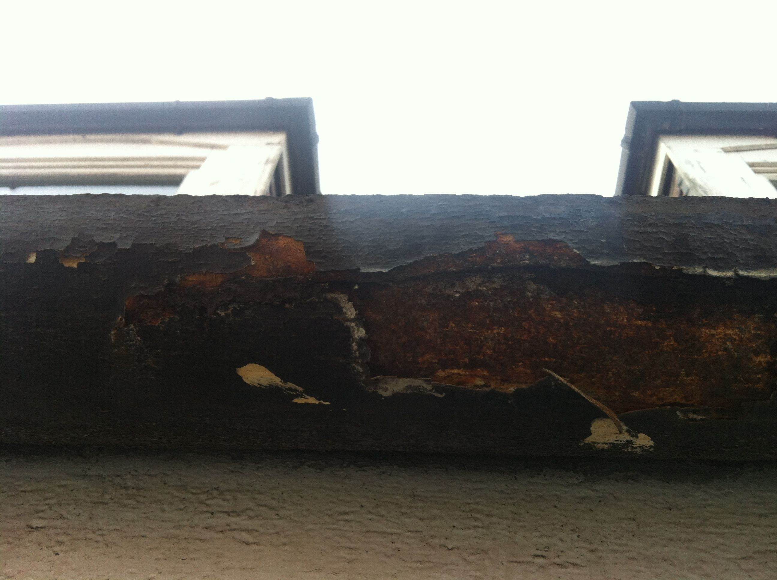 You Can See Why This Customer Needed Her Gutters Replaced Absolutely Shot Through With Rust We Changed All The Guttering And Re Gutters Airplane View Canning