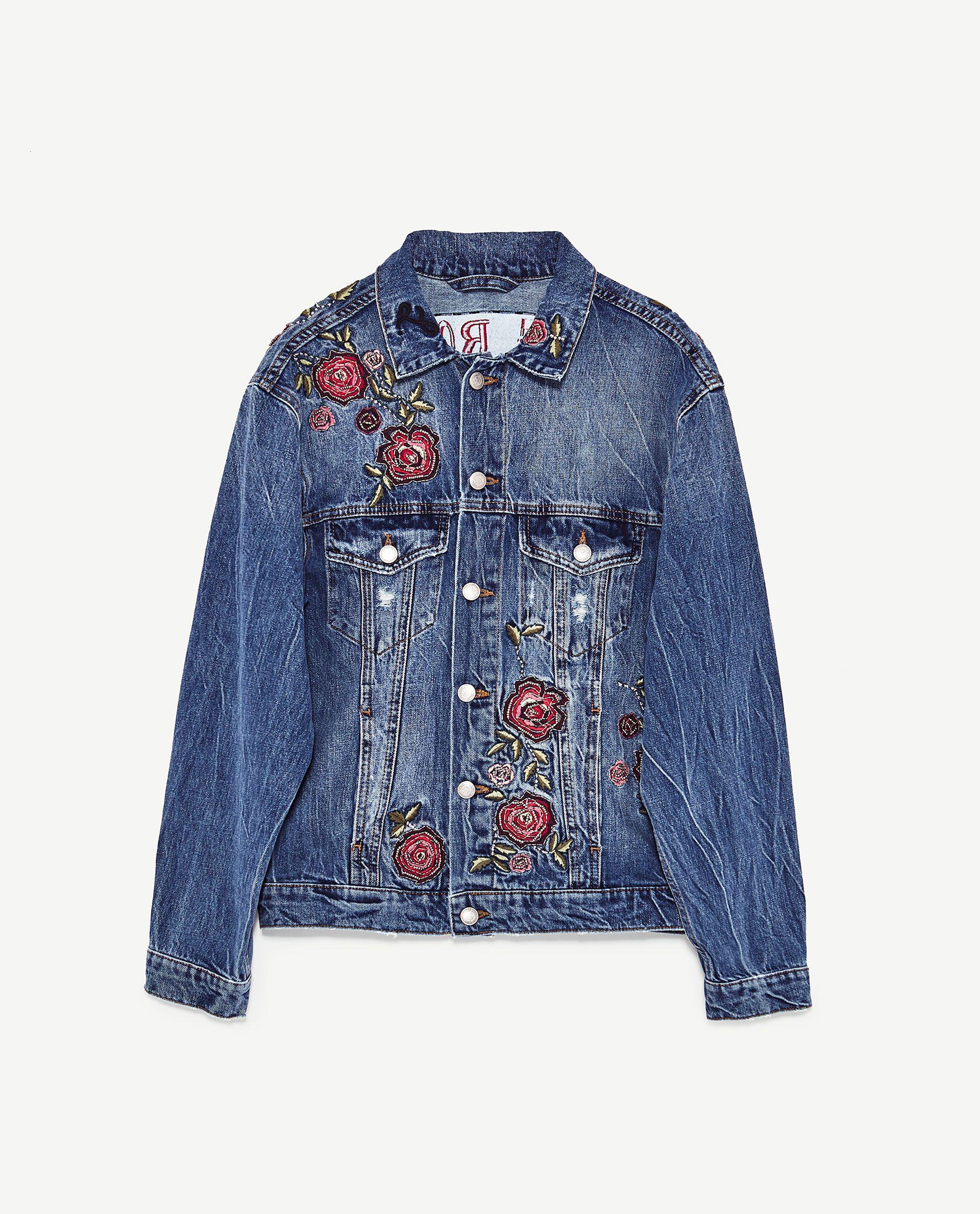67240eaa JAKKE I DENIM MED BRODEREDE ROSER | Fashion & Design/Beauty