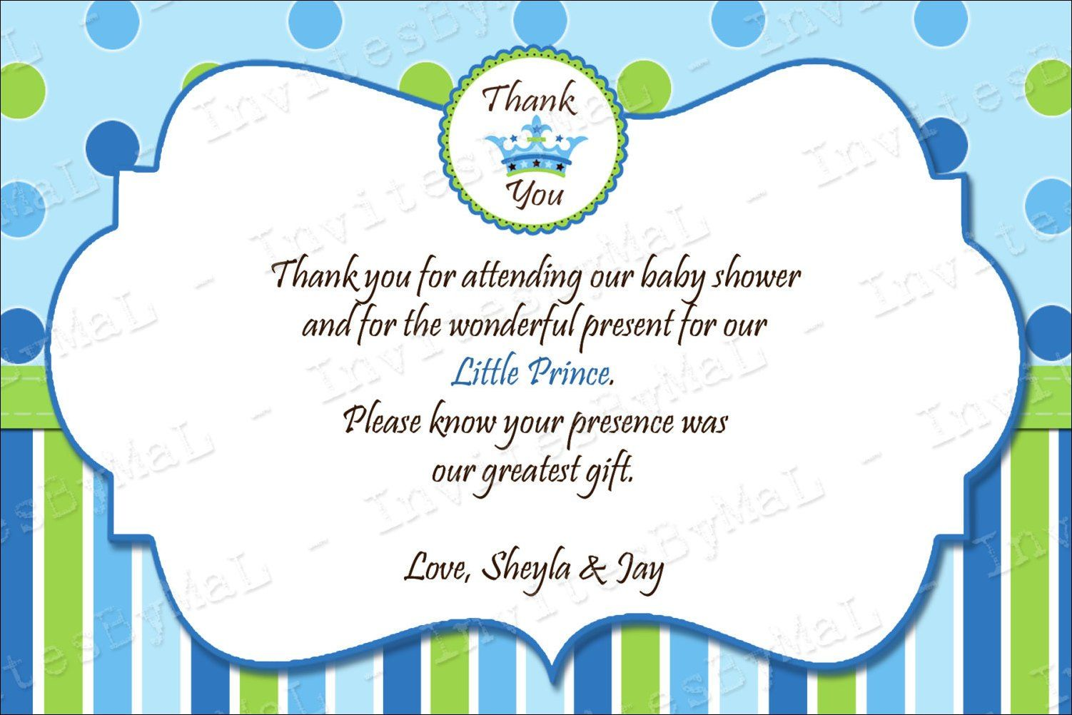 40 beautiful baby shower thank you cards ideas