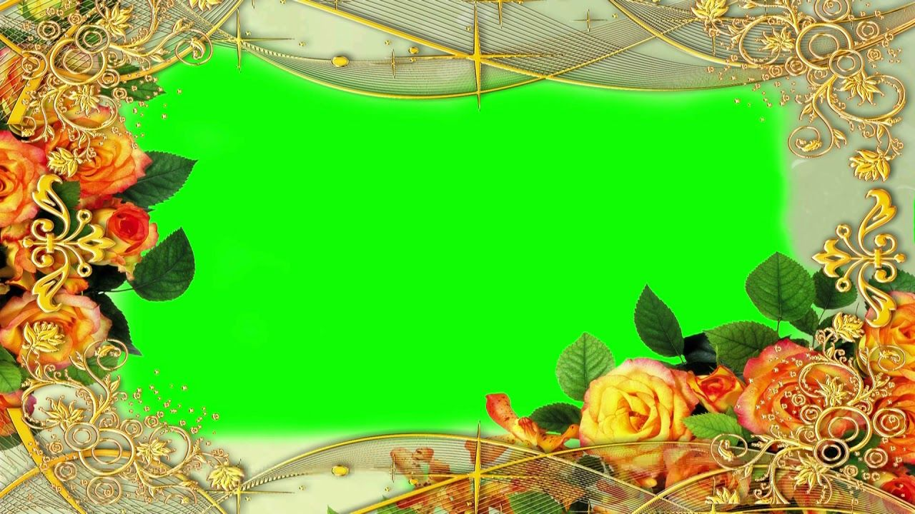 Wedding Rose Flower Green Screen Video Greenscreen Animation Background Wedding Background