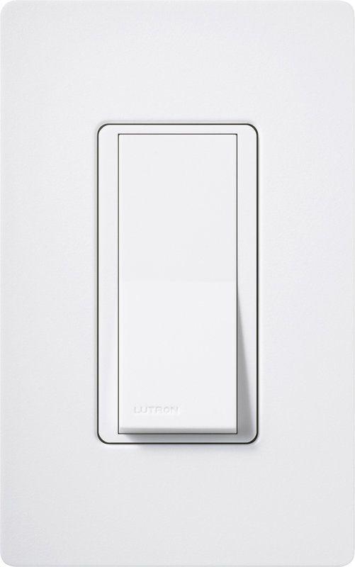 Lutron CA-1PSH Claro Single Pole Designer Switch Snow Lighting Controls Wall Controls Switches