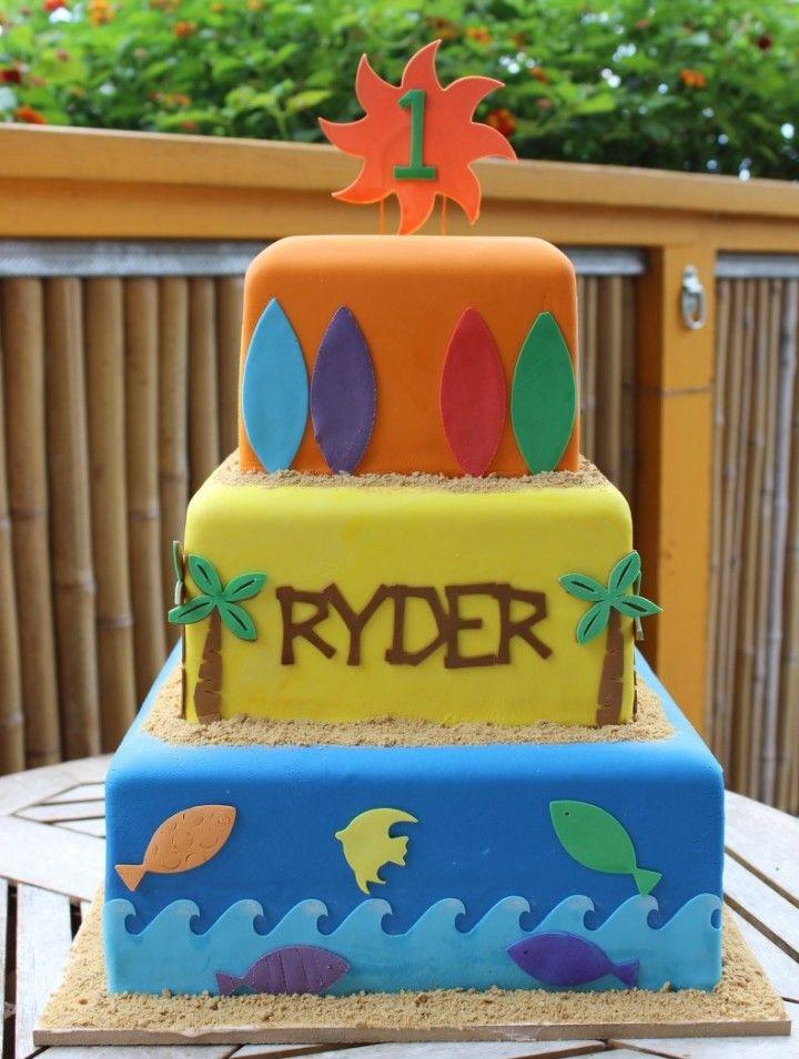 rolled fondant surfer birthday cake short n sweet bakery hilo kona