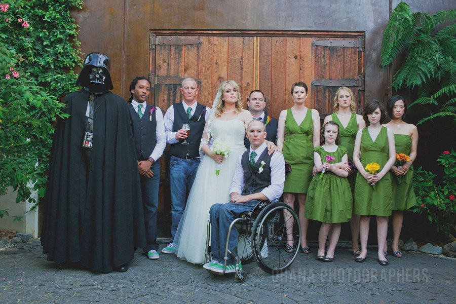 Star Wars Wedding At Stone Brewing Style Me Pretty Feature