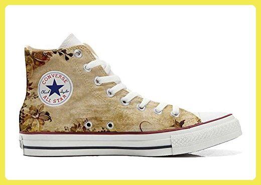 Converse All Star Hi Customized personalisierte Schuhe (Handwerk Schuhe) Old Texture