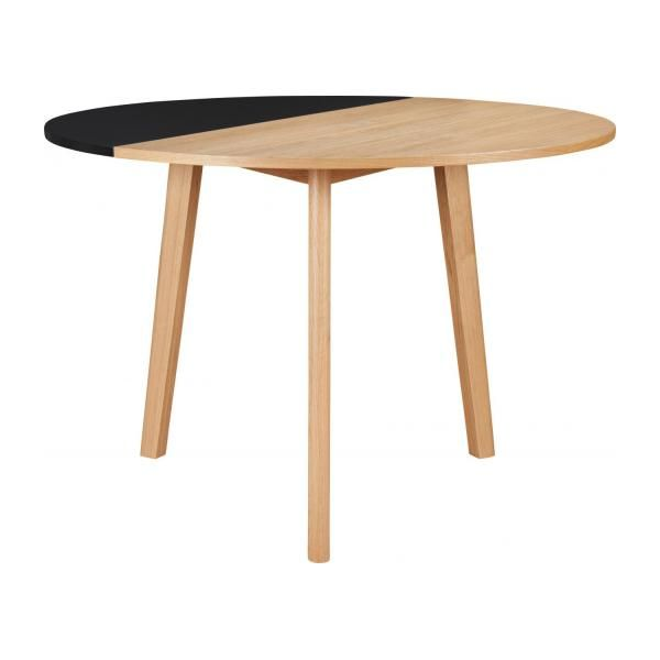 Pivot Black oak wood extending table Design by Goncalo