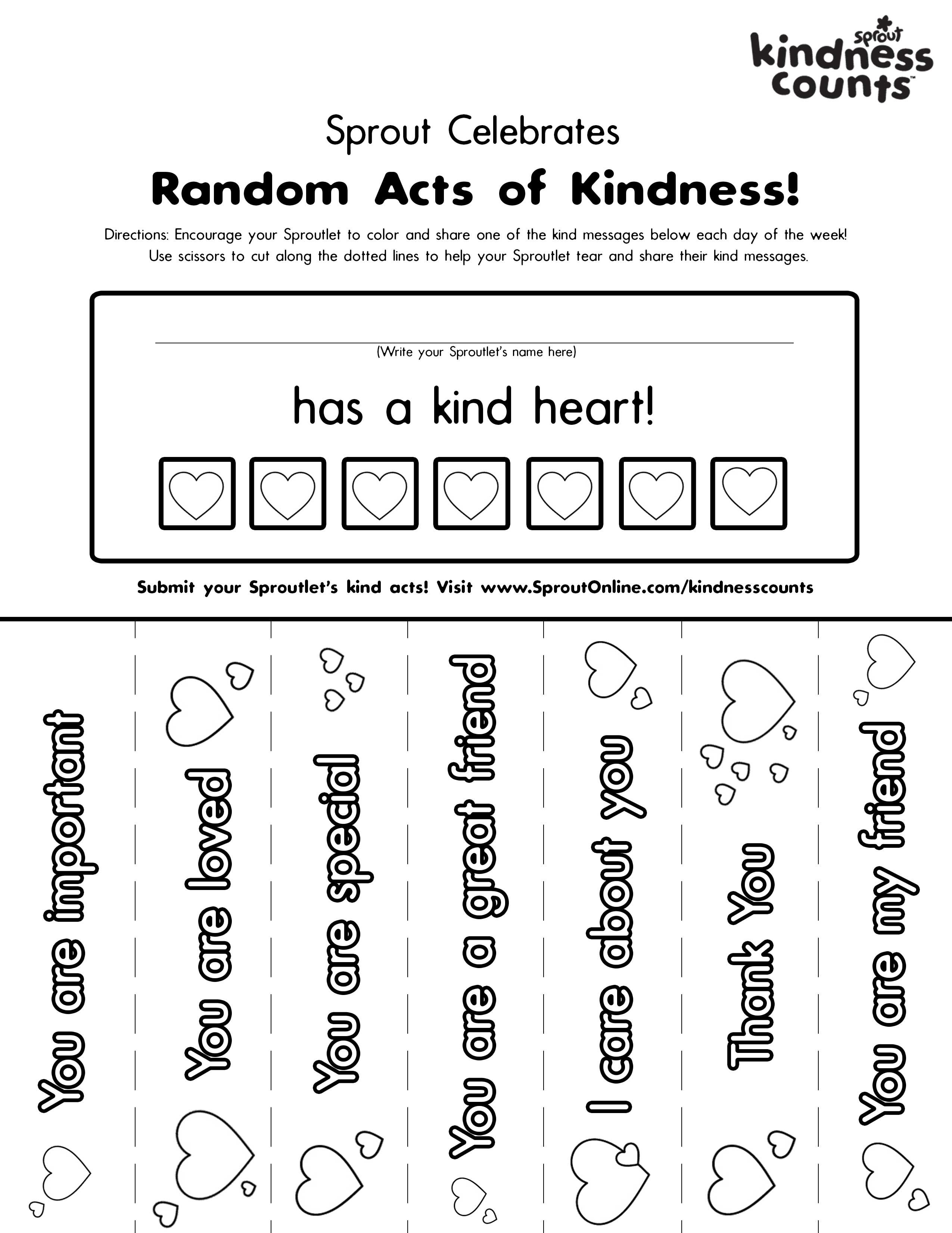coloring pages acts of kindness - print coloring pages about kindness 1st grade general ideas pinterest school kindness