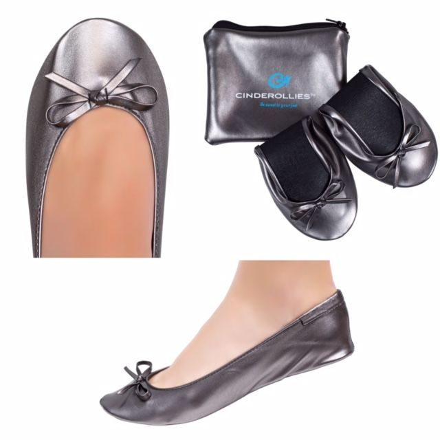 Pewter Heels For Wedding: Pearl (Ivory) Foldable Ballet Flats For Wedding