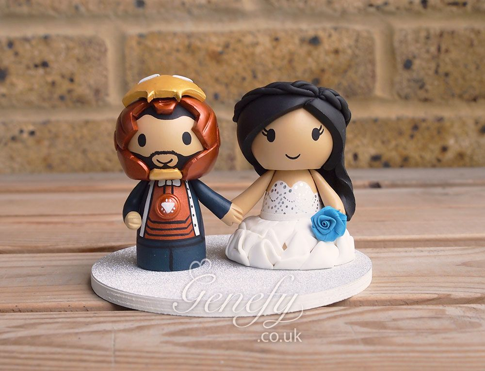 Ironman And Bride Wedding Cake Topper By Genefyplayground Https Www Facebook