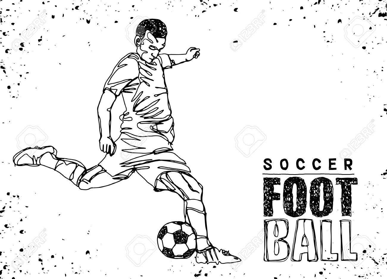 Continuous Line Drawing Or One Line Drawing Of Two Soccer Players Scrambling For Ball Vector I Continuous Line Drawing Photography Backdrop Stand Line Drawing