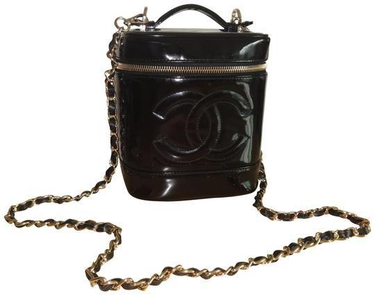 fc9d896a7ac6 Chanel Vanity Case Vintage Timeless Black Patent Leather Cross Body Bag -  Tradesy