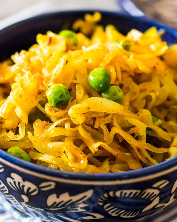 Indian Fried Cabbage Recipe Indian Food Recipes Cabbage Recipes Veggie Dishes