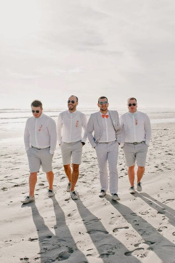 27 beach wedding groom attire ideas wedding ideas pinterest grey wedding groom beach junglespirit Choice Image