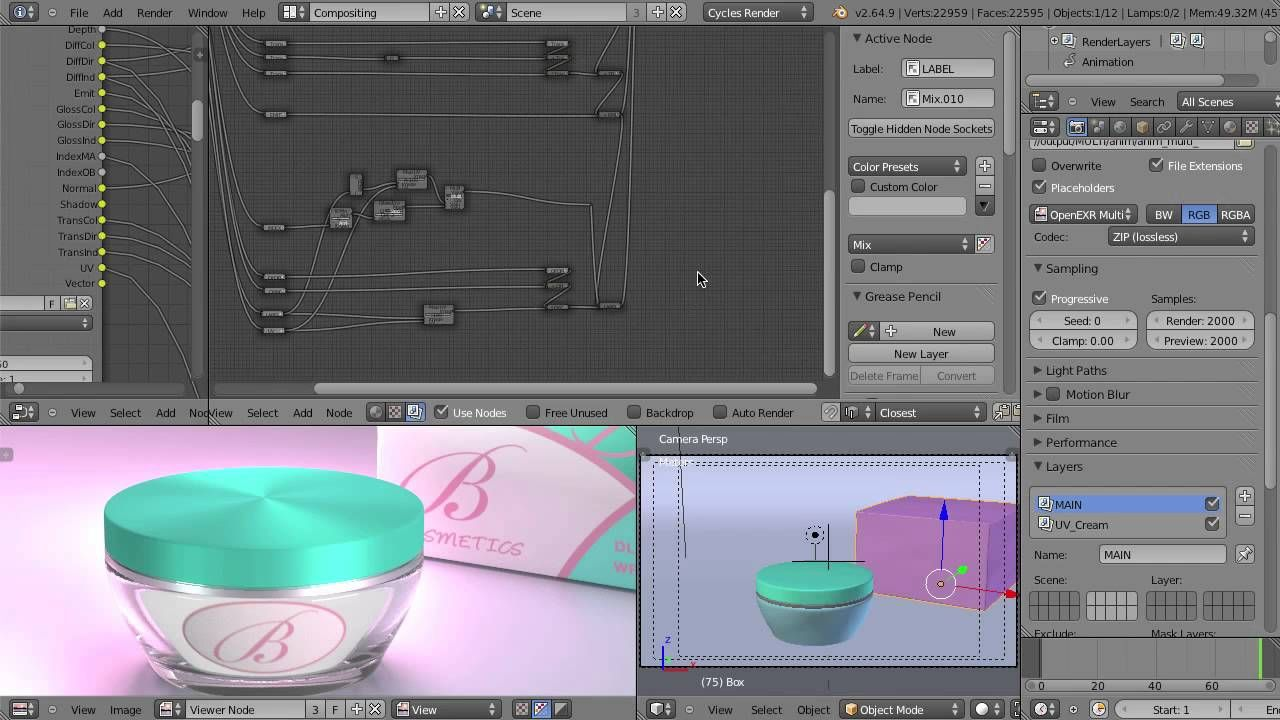 Compositing Cycles Render Passes in Blender   Software