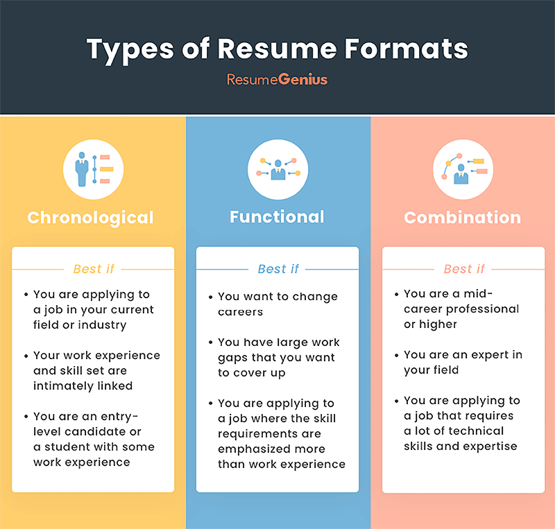 Resume Formats (With images) Best resume format, Resume