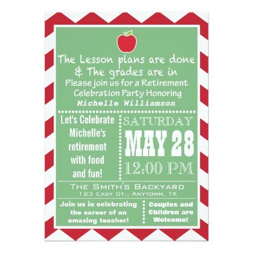 Teacher Retirement Party Invitation Retirement parties, Retirement - fresh invitation wording for trunk party