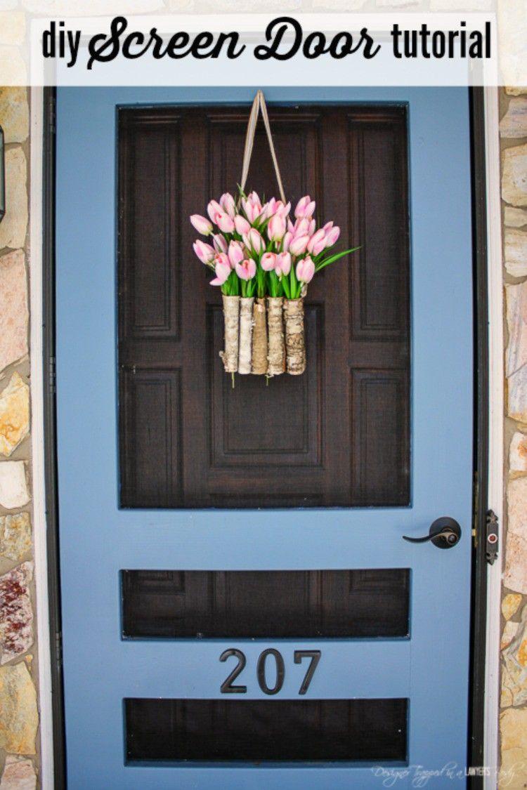 How To how to build your own door photos : DIY Screen Door Tutorial | Screens, Doors and Porch