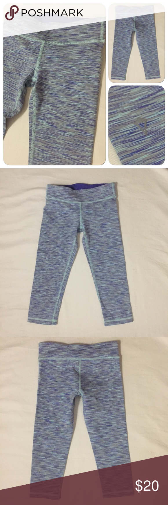 af297af729 Ivivva Lululemon Girls Sz 8 Capri Leggings Ivivva by Lululemon Purple Space  Dye Cropped Kids Leggings
