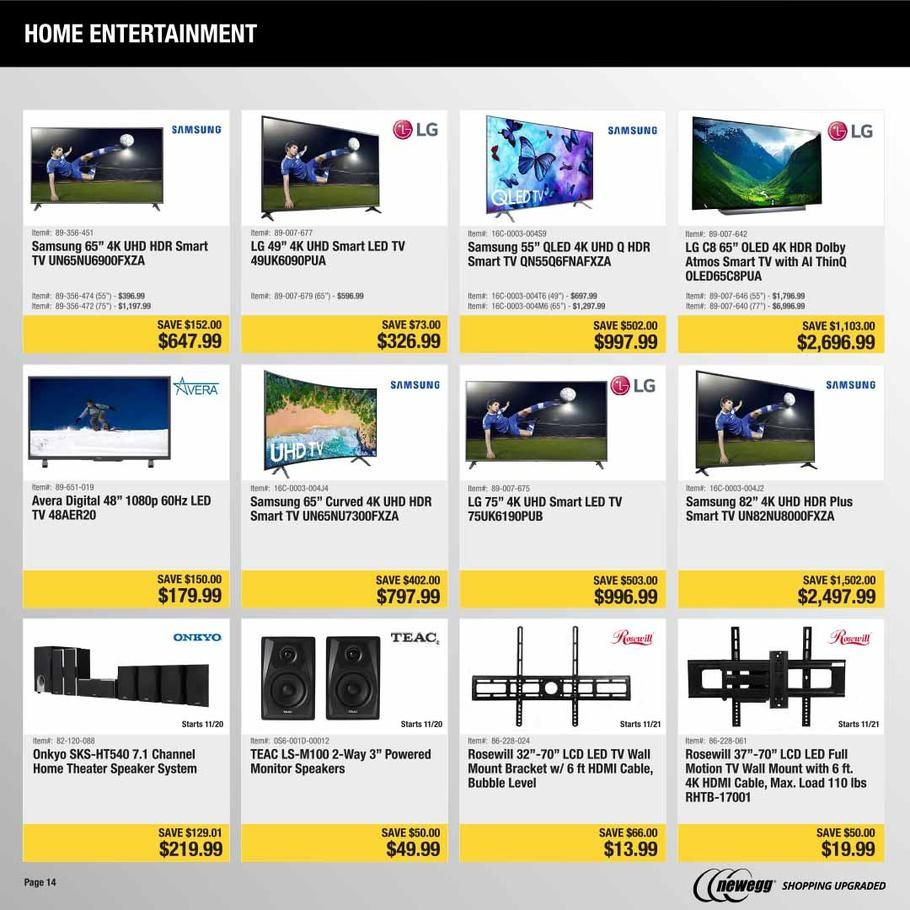 Newegg Black Friday 2018 Ads Scan Deals And Sales See The Newegg Black Friday Ad 2018 At 101blackfriday Com F Black Friday Ads Black Friday Black Friday News
