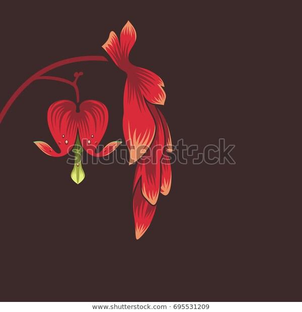 Pin By Mouze Art On Flowers Visual Library In 2020 Flower Logo Design Bleeding Heart Flower Bleeding Heart