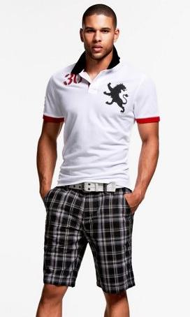 Express Men Modern Prep Polo Shirt and Shorts | Summer clothing ...