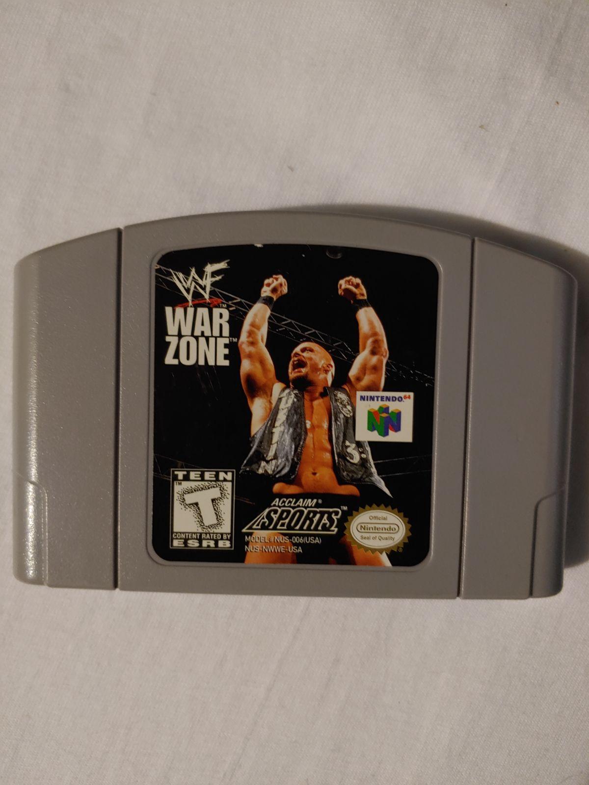 N64 Wwf War Zone Game Video Games Nintendo Wwf War