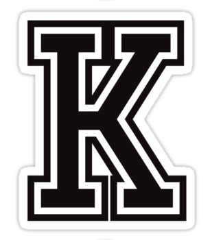 Letter K Sticker Black And White Sporty College Font Sticker By