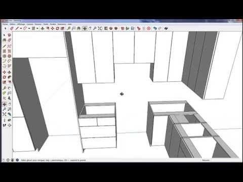 Fusion 3D   SketchUp Logiciel de cuisine pro GRATUIT Cuisines - plan maison logiciel gratuit