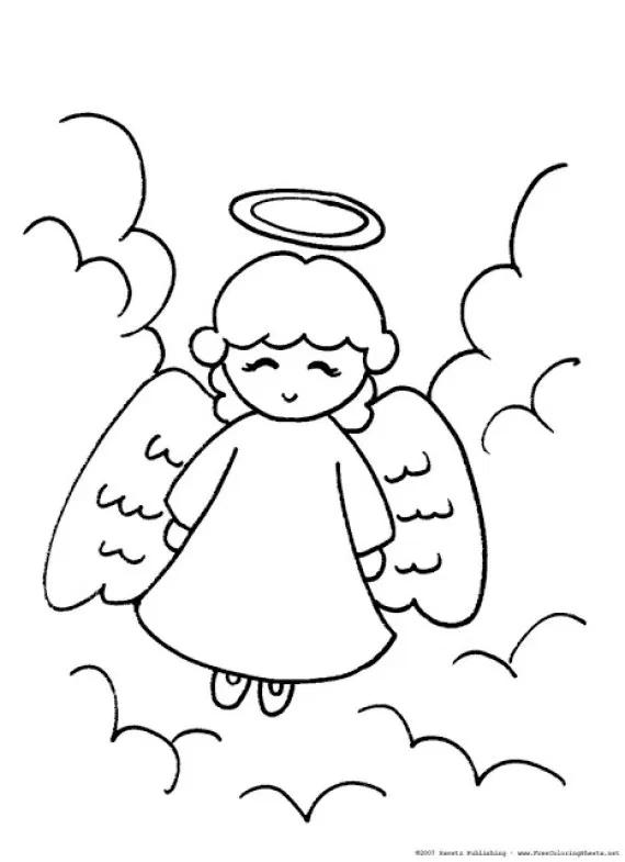 Dibujos De Angeles De Navidad Para Colorear E Imprimir Angeles Dibujos Angel Para Dibujar Dibujo De Navidad