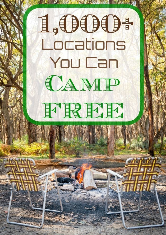 1001+ Places You Can Camp For Free