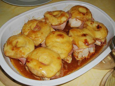 Photo of Putenfilet mit Schinken, Ananas und Käse überbacken von gawi…