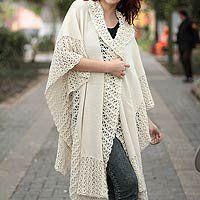 100% alpaca ruana cloak, 'Vanilla Spice' - Ivory A NOVICA http://www.amazon.com/dp/B001O2UCAQ/ref=cm_sw_r_pi_dp_M58Zvb0FJN672