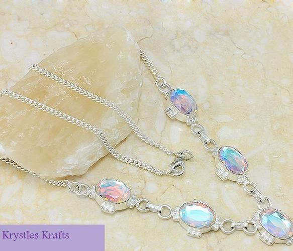 rainbow topaz necklace