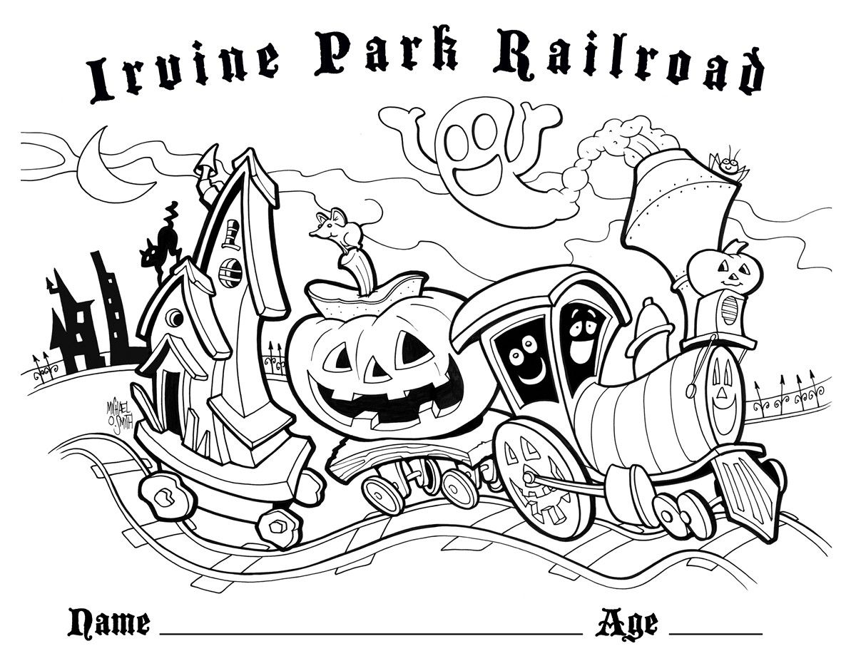 Irvine Park Railroad Has Coloring Pages On Our Web Site This Is