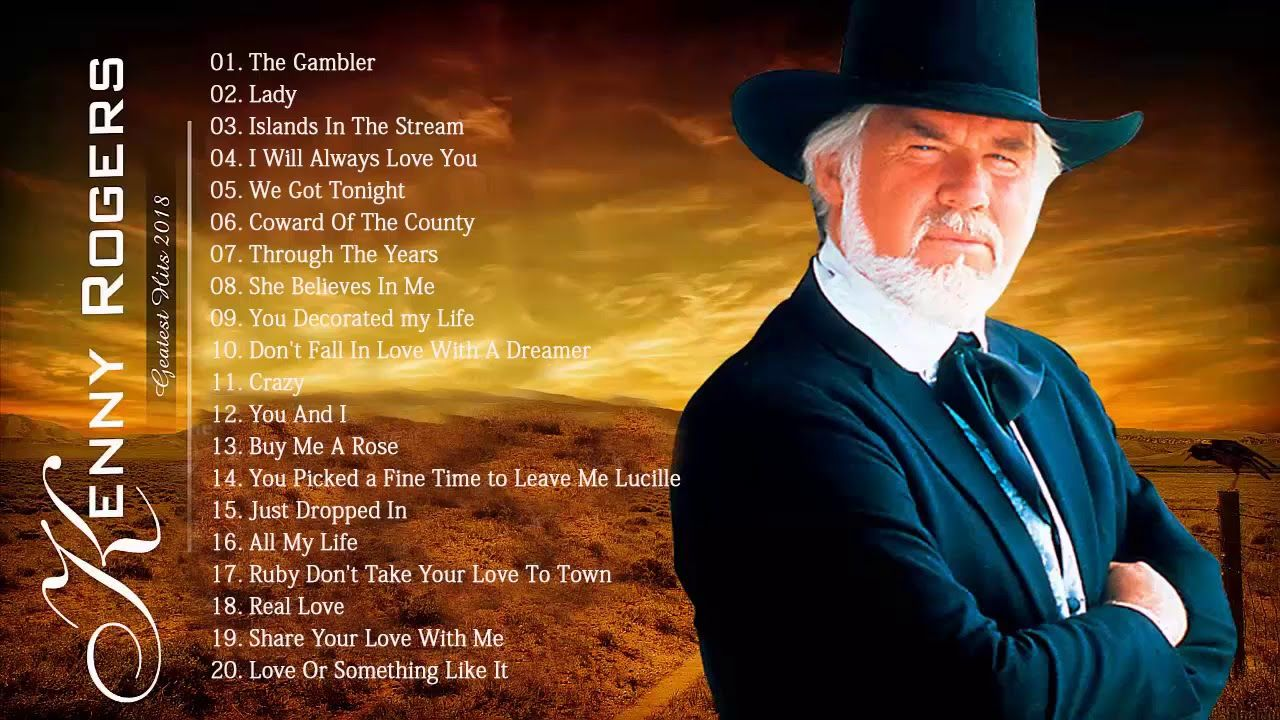Kenny Rogers Greatest Hits Full Album Best Country Songs Of