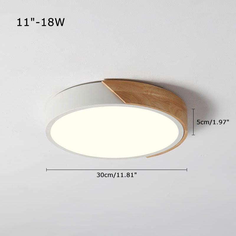 Modern Led Lighting Ultra Thin Round Flush Mount Ceiling Fixture