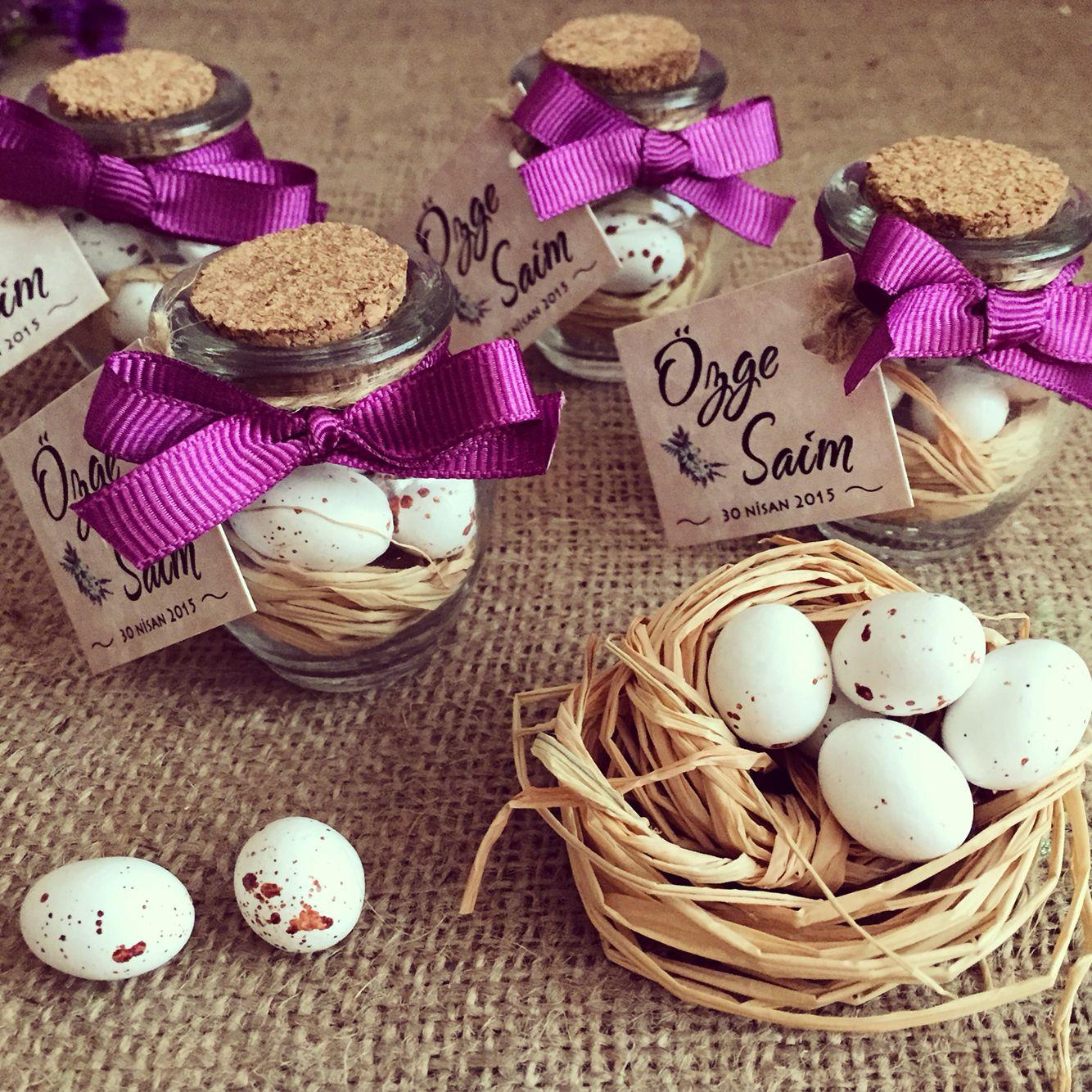 Love birds wedding favors / Kuş yuvası düğün hediyesi www.masalsiatolye…